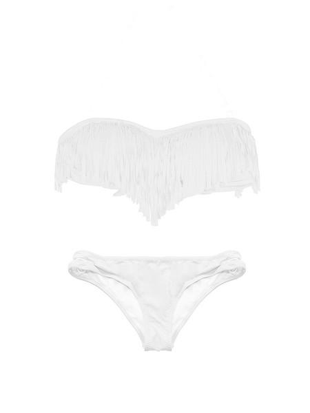 Fringe Peep Bandeau Bikini | Outfit Made