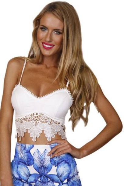 top crop tops bustier crop top tank top white