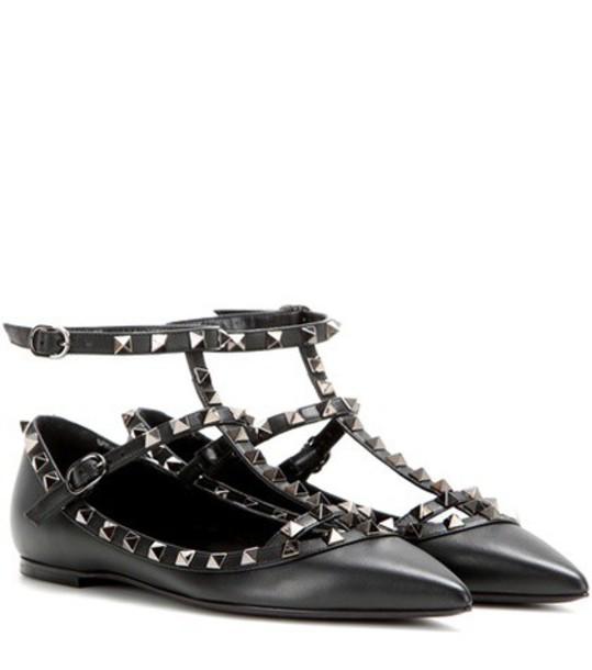 Valentino noir leather black shoes