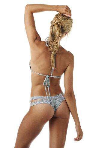 swimwear bikini bottoms blue brazilian bikini cheeky grey print skimpy bikiniluxe
