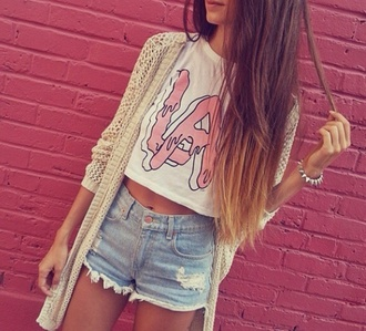 shirt la white cropped pink slime t-shirt los angeles crop tops shorts
