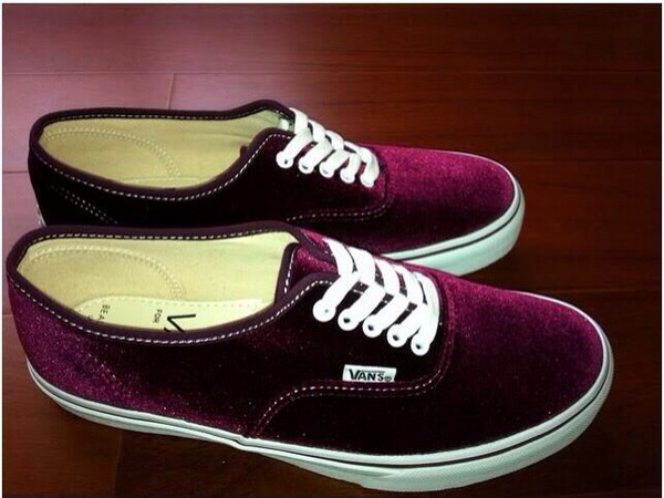 shoes vans burgundy