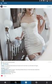 dress,corset,corset dress,lingerie,straps,white,bodycon,bustier,spaghetti strap,garter,tight,sexy