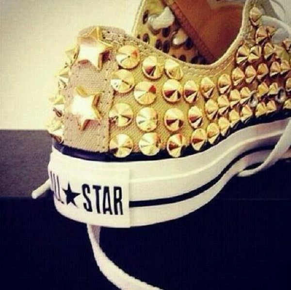 shoes studs studded converse