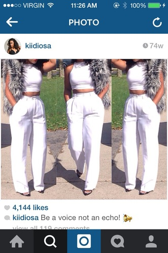 pants cocaine white white pants