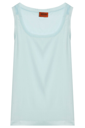 tank top top basic blue