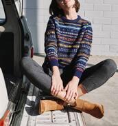 sweater,blue sweater