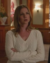 sweater,white,v neck,cable knit,burnout v-neck,amanda clark,emily thorne,emily vancamp