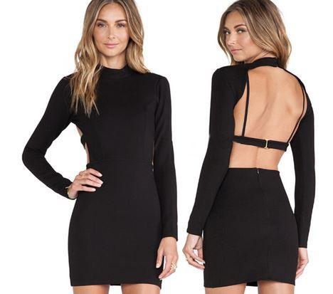 Clarissa open back dress