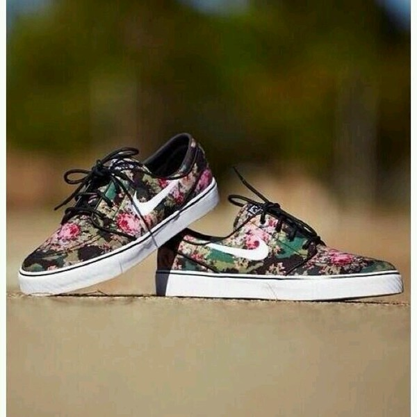 shoes nike jasnoski flowers