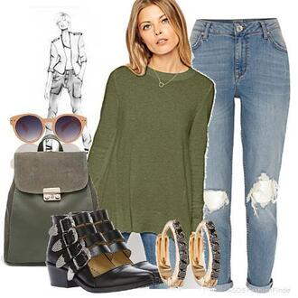 sweater girls night shopping trip weekend ankle boots jeans backpaks earrings sunglasses sports luxe sweaters everywhere