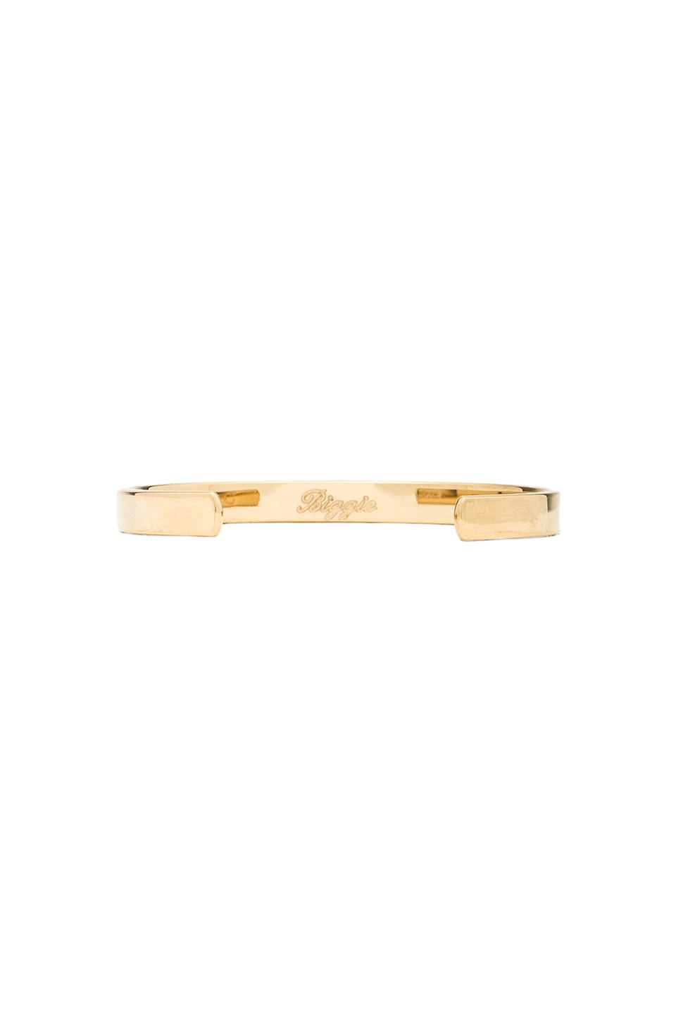 Coordinates biggie legend bracelet in gold from revolveclothing.com