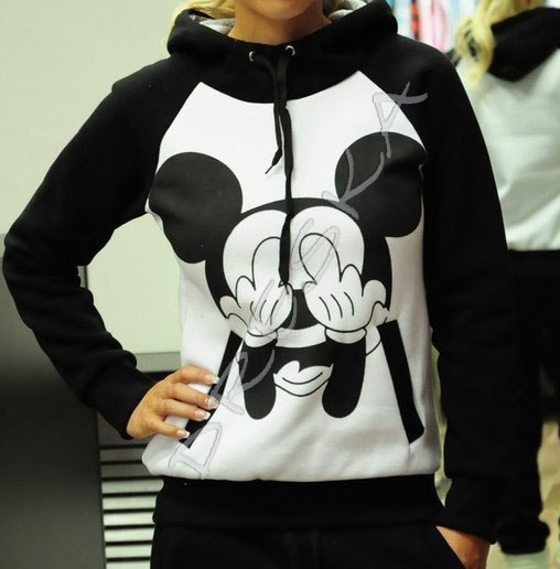 Aliexpress.com : Buy 2014 New Fashion Women Hoodies & Sweatshirts Women's Sports Sets Harajuku Character MOUSE MICKEY Printing Sports Hooded Suits from Reliable suit sleeves too short suppliers on Happy Moments Store