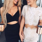 skirt,white,lace,bodycon skirt,tumblr,fancy,going out,dress,top,black top,full outfit,cute,black dress,two piece dress set,black skirt,bodycon,bodycon dress,party dress,sexy party dresses,sexy,sexy dress,party outfits,summer dress,summer outfits,classy dress,elegant dress,cocktail dress,date outfit,cute dress,girly,girly dress,birthday dress,summer holidays,romantic dress,romantic summer dress,clubwear,club dress,black