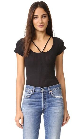 bodysuit strappy black underwear