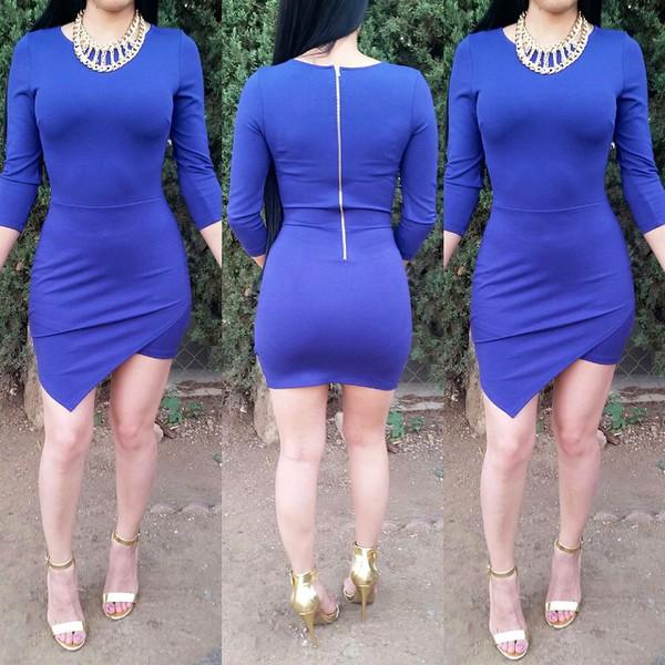 blue dress blue skirt long sleeve dress long sleeves bodycon dress bodycon skirt wrap dress asymmetrical skirt asymmetrical dress asymmetrical