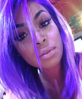 make-up babe lips heather sanders purple hair eyebrows on fleek gorgeous face