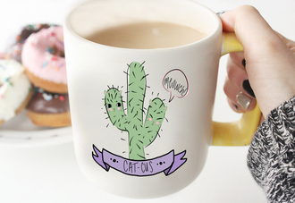 home accessory cute kawaii cats cactus catcus banner tumblr meow meowch soft grunge pastel goth hipster art print digital download printable download tshirt design mug design pin back button diy bubblegumgraffiti