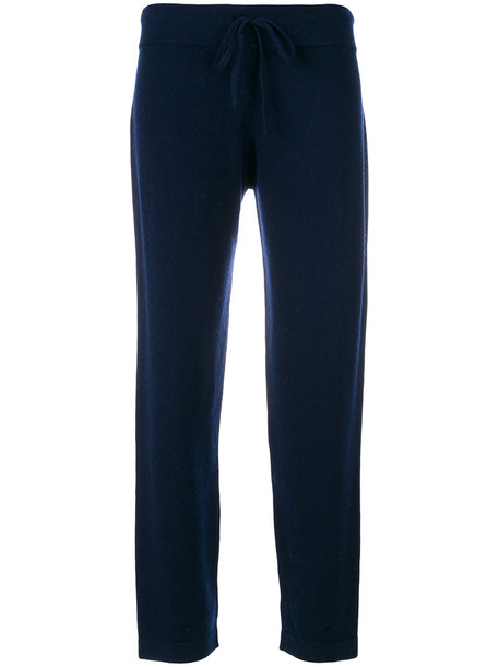 Cashmere In Love - Sarah knit trousers - women - Wool/Cashmere - S, Blue, Wool/Cashmere