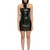 Western Buckles Leather Strapless Dress