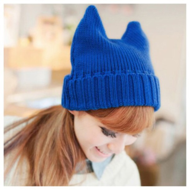 cats horn beanie hat fall outfits fashion kawaii cute girly style  streetwear accessories winter outfits clothes 9874616c4b5