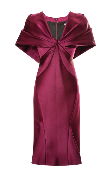 Cape-Effect Duchess Satin Dress by Zac Posen - Moda Operandi