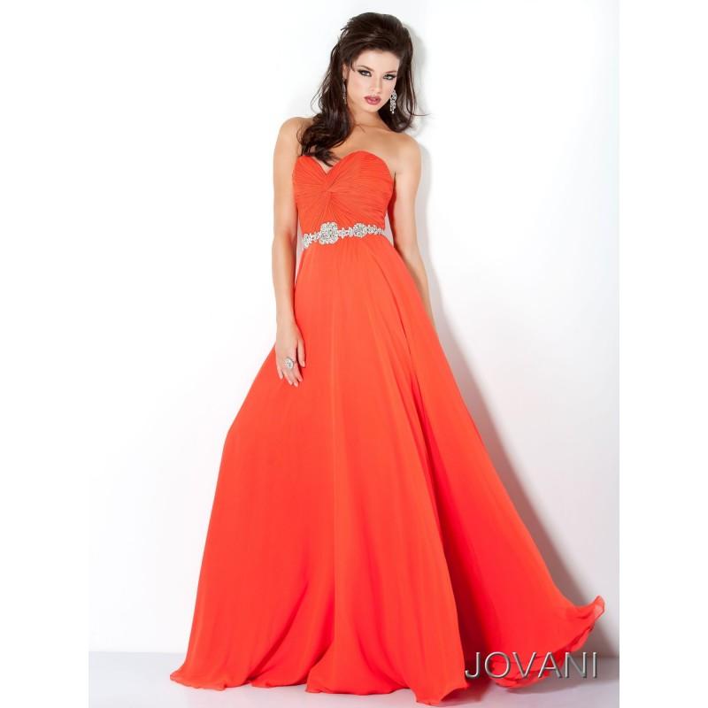 Jovani 159764 Elegant Strapless Gown 2018 Spring Trends Dresses