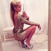 dress,gold sequins,backless dress,sparkle,brillant,gold,silver,mini dress,party dress,prom dress,night,sexy,fashion,high heels,nude,shoes,sparkly dress,heels,short dress,glitter dress,glitter,backless,please not ali express or ali baba,clothes,party,new year dresses,new years outfit