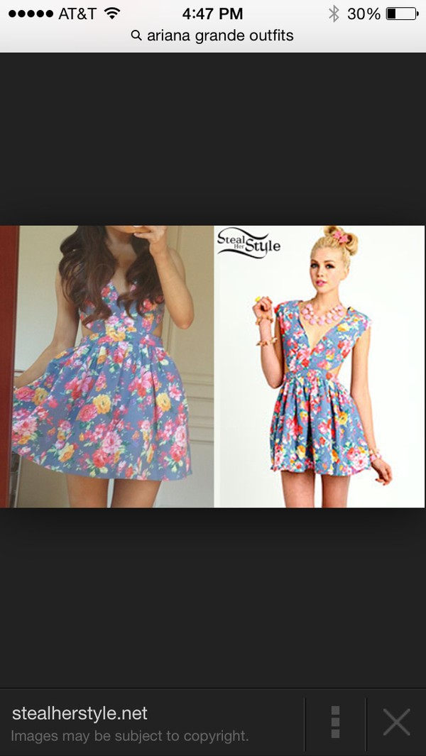 floral dress ariana grande light blue