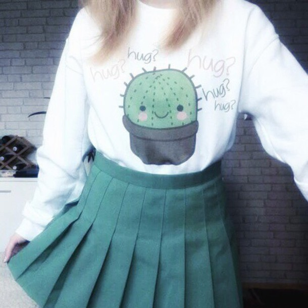 34274ddbe50 blouse cactus grunge love sweet graphic tee grunge t-shirt cute kawaii  kawaii grunge kawaii