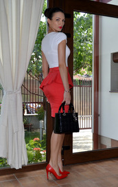 my silk fairytale,t-shirt,skirt,shoes,bag,jewels