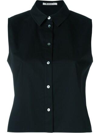 shirt sleeveless shirt sleeveless black top