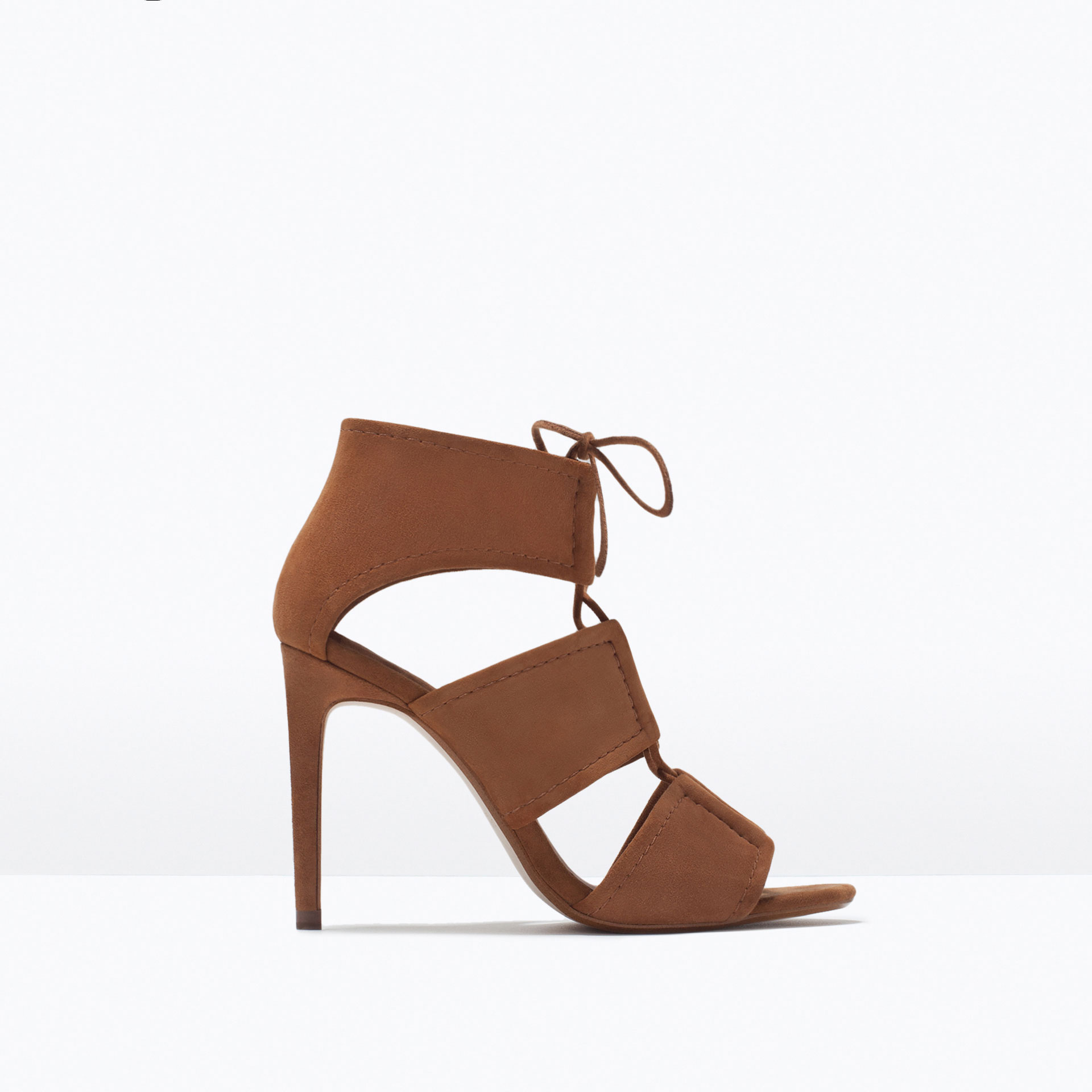 Zara Tan Sandals Fijn I