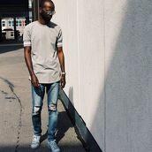 top,maniere de voir,ribbed detail,grey,t-shirt,smart,casual,fashion,trendy,style,menswear,kanye west
