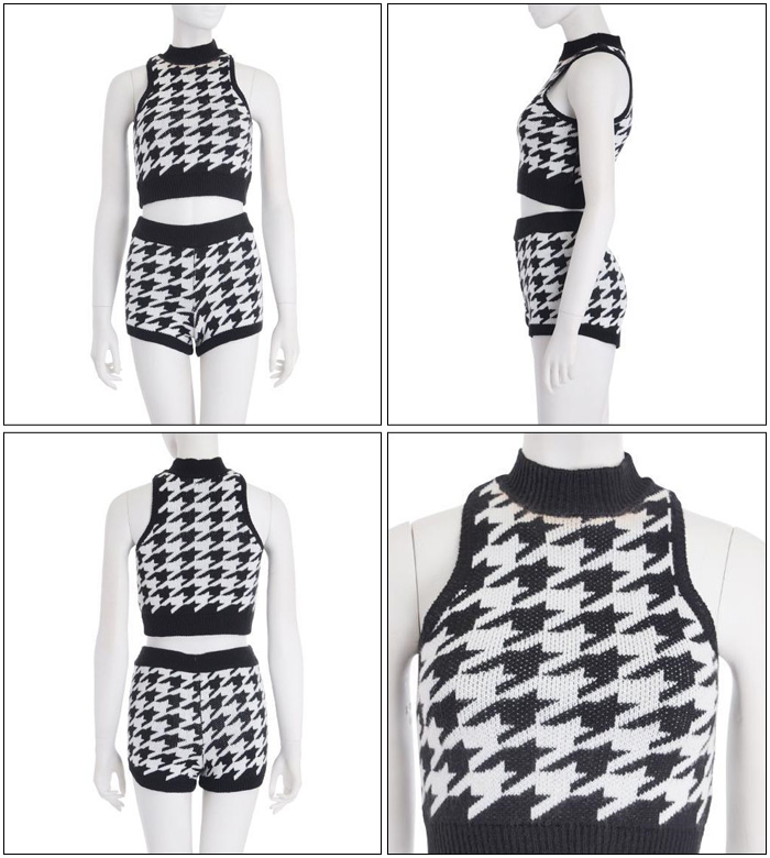 "Rakuten: Genuine ◆ ""t / houndstooth short knit t (tank top)""- Shopping Japanese products from Japan"