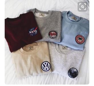 sweater nasa logo vw california