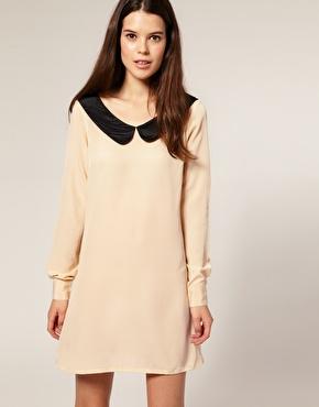 Vero moda wide peter pan collar 60's shift dress chez asos