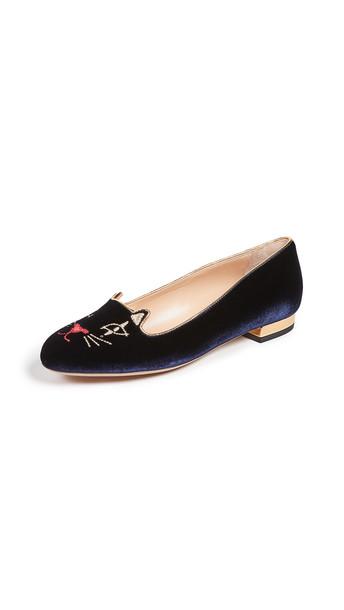 flats blue shoes