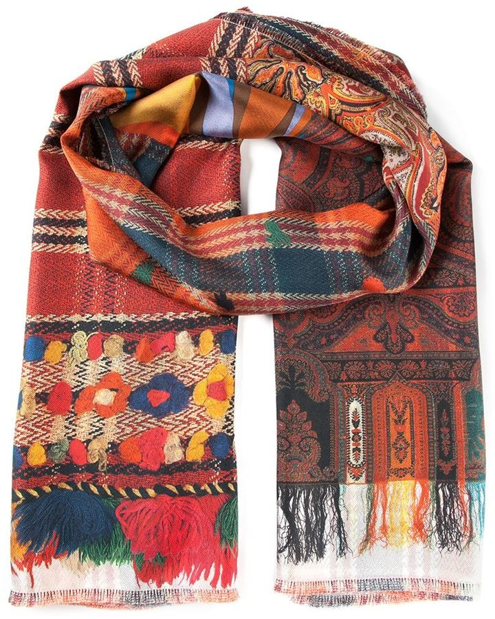 Louis mascia multi pattern scarf
