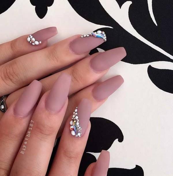 Nail accessories: beautiful, glamour, salon, matte, nails, diamonds ...