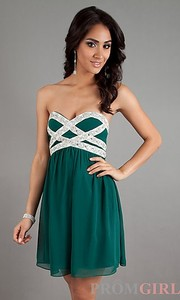 2013 sexy gorgeous dress green black