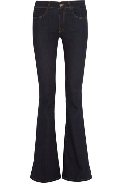 Victoria Beckham Denim|Mid-rise flared jeans |NET-A-PORTER.COM