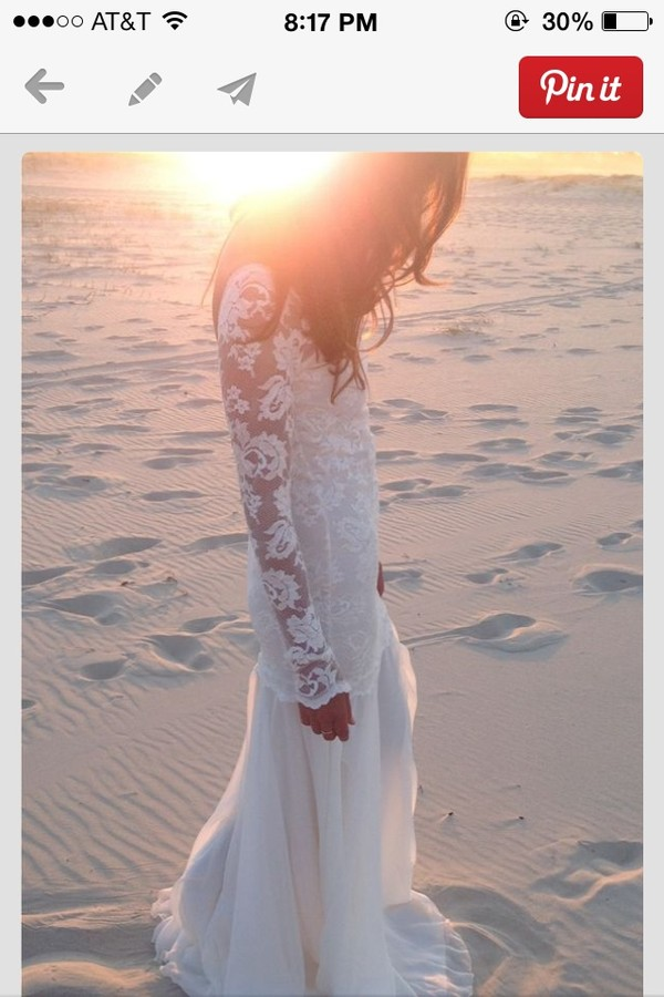 dress white wedding boho beach