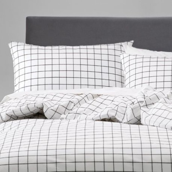 Duvet Cover Grid Bedding Black And White Bedding Grid