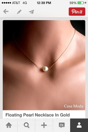 jewels,pearl,pearl necklace,necklace,dainty,gold chain