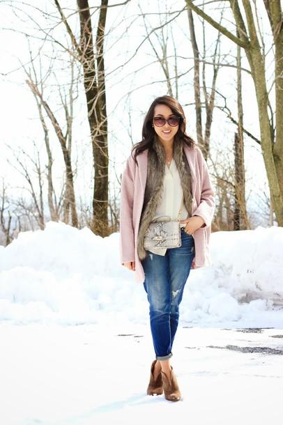 refined couture coat jacket blouse jeans bag shoes jewels sunglasses