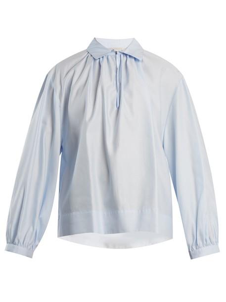 Stella McCartney shirt cotton blue top