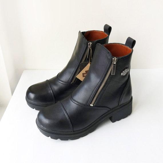 Vintage New Harley Davidson Black Leather by FreezingMoonVintage