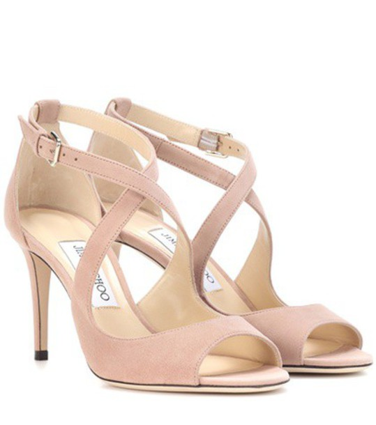 Jimmy Choo sandals suede pink shoes