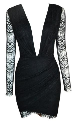 Raw Glitter   Lola Deep V-Neck Lace Dress - More Colors, Sexy Long Sleeve Lace Dresses   RawGlitter.com   RawGlitter.com